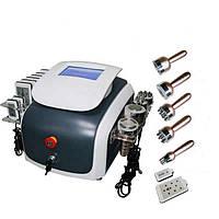 Аппарат 6 в 1 Кавитация, лазерный липолиз для удаления жира, вакуум, РФ лифтинг лица и тела, фото 1