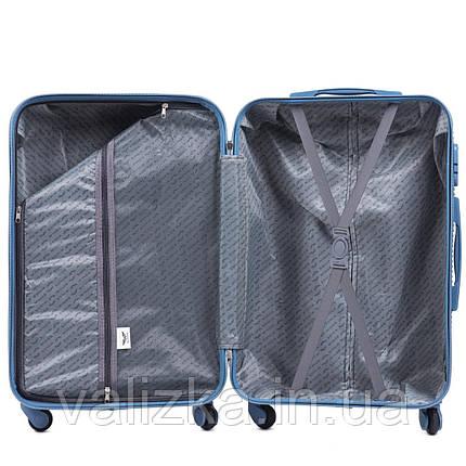 Великий чемодан з полікарбонату Wings 203 на 4-х колесах рожеве золото, фото 2