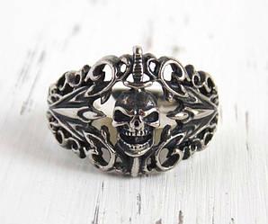Перстень мужской с черепом 22 размера