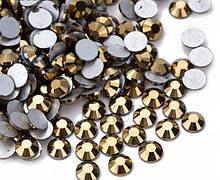 Клейові стрази (на клей) Premium GOLD HEMATITE Non-hot Fix Холодної фіксації