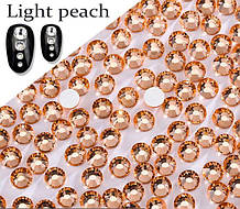 Клейові стрази (на клей) Premium LIGHT PEACH Non-hot Fix Холодної фіксації