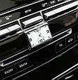 Стильные часы для салона автомобиля (белый циферблат, цифры - хром), фото 3