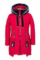 Детские зимние куртки для девочек   от производителя  34-44 красный