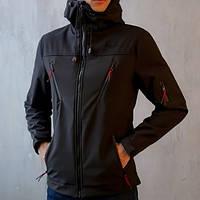 "Мужская демисезонная куртка Pobedov Jacket ""Korol' Lev"" Black (S, M, L, XL размеры)"