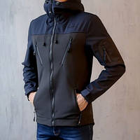 "Мужская демисезонная куртка Pobedov Jacket ""Korol' Lev"" Black/Navy (S, M, L, XL размеры)"