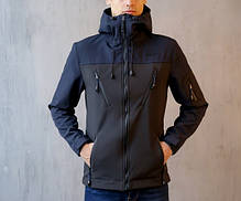 "Мужская демисезонная куртка Pobedov Jacket ""Korol' Lev"" Black/Navy (S, M, L, XL размеры), фото 2"