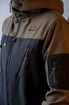 "Мужская демисезонная куртка Pobedov Jacket ""Korol' Lev"" Black/Khaki (S, M, L, XL размеры), фото 2"