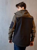 "Мужская демисезонная куртка Pobedov Jacket ""Korol' Lev"" Black/Khaki (S, M, L, XL размеры), фото 3"
