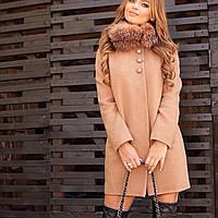 Пальто женское зимнее в цветах. Размер С, М, Л
