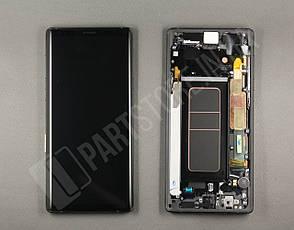 Дисплей Samsung n960 black note 9 (GH97-22269A) сервисный оригинал в сборе с рамкой, фото 2