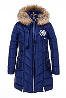 Пальто для девочки зимнее от производителя 34-40 электрик