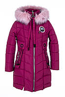Зимняя куртка парка для девочки  интернет магазин    34-44 бордовый