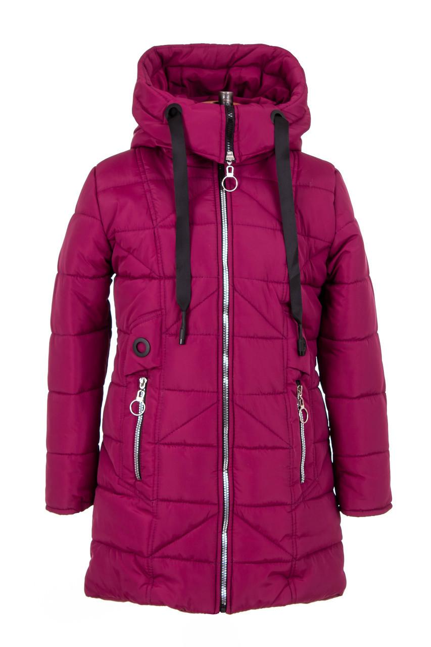 Зимняя куртка парка для девочки  подростка   34-44 бордовый