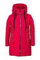 Зимние куртки для девочки подростка   34-44 красный