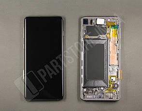 Дисплей Samsung g973 Black s10 (GH82-18850A) сервисный оригинал в сборе с рамкой, фото 2