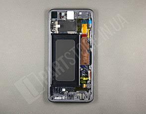 Дисплей Samsung g970 Black s10e (GH82-18852A) сервисный оригинал в сборе с рамкой, фото 2