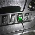 Автомобильное зарядное 2хUSB (12-24В, 4.2А) + ВОЛЬТМЕТР / Врезная розетка - адаптер питания USB, фото 6