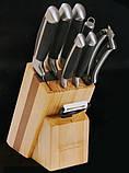 Набір ножів Edenberg EB-3612 - 9 шт на дерев'яній підставці, фото 2