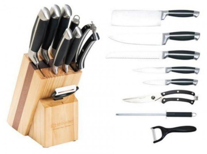 Набір ножів Edenberg EB-3612 - 9 шт на дерев'яній підставці