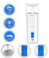 Наноспрей (Небулайзер) 3 в 1 тестер вологості + power bank + розпилювач води, апарат, прилад, фото 1