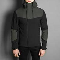 "Мужская демисезонная куртка Pobedov Jacket ""Pyatnitsa"" Khaki-Black (S, M, L, XL размеры)"