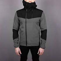 """Мужская демисезонная куртка Pobedov Jacket """"Pyatnitsa"""" Grey/Black (S, M, L, XL размеры), фото 2"""