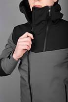 """Мужская демисезонная куртка Pobedov Jacket """"Pyatnitsa"""" Grey/Black (S, M, L, XL размеры), фото 3"""