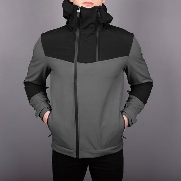 """Мужская демисезонная куртка Pobedov Jacket """"Pyatnitsa"""" Grey/Black (S, M, L, XL размеры)"""
