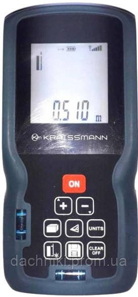 Лазерний далекомір Kraissmann LE 60. Лазерна рулетка Крайсман