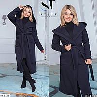 Женское пальто с капюшоном больших размеров