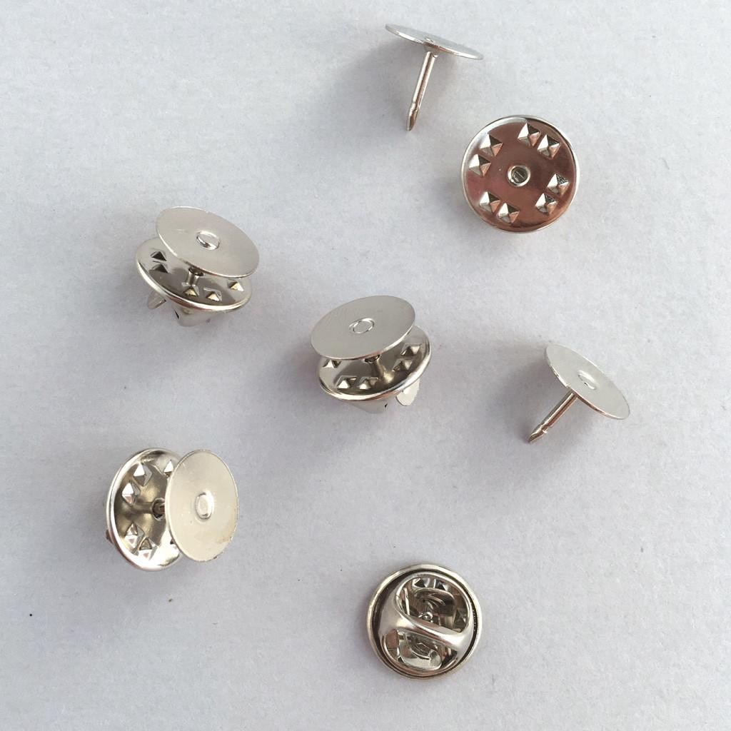 """Основа для брошки """"Метелик"""" 10 мм (Японія). Срібло."""