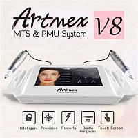 MTS PMU тату машинка Artmex V8 для макіяжу очей, брів, губ Обертова ручка 100-240 В