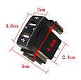 Автомобильное зарядное 2хUSB (12-24В, 4.2А) + ВОЛЬТМЕТР / Врезная розетка - адаптер питания USB, фото 7