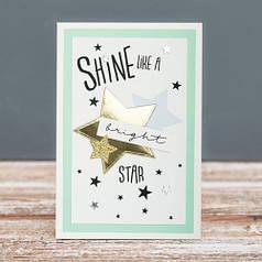 Открытка стандартная Shine bright like a star
