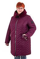 Зимние женские куртки большого размера   56-70 марсала