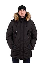 Чоловічу куртку парку на хутрі 44-54 колір 07