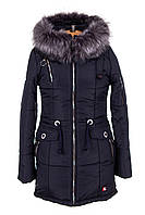 Женская зимняя куртка парка от производителя    44-54  темно синий