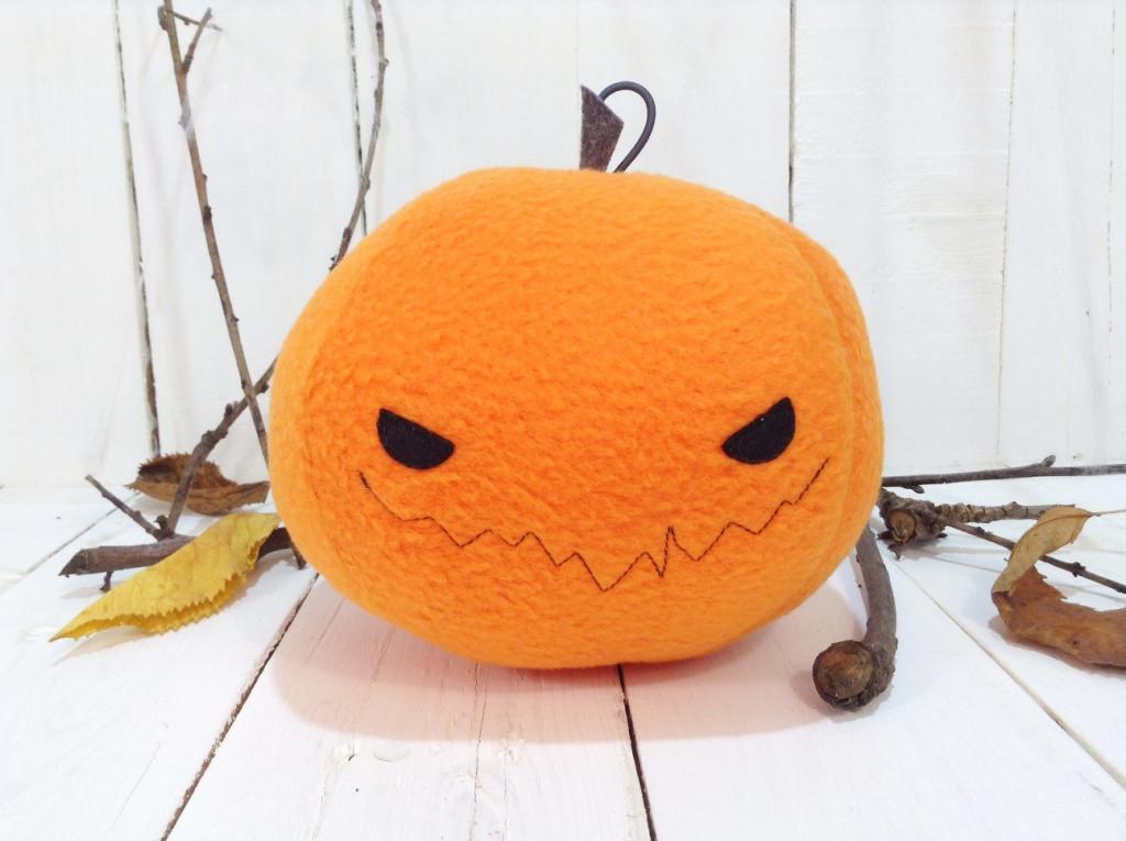Мягкая игрушка Strekoza Тыква 13 см оранжевый ручная работа helloween