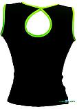 Топ майка VK с окантовкой 32р. хлопок-90% лайкра 10%  черный + лайм, фото 2