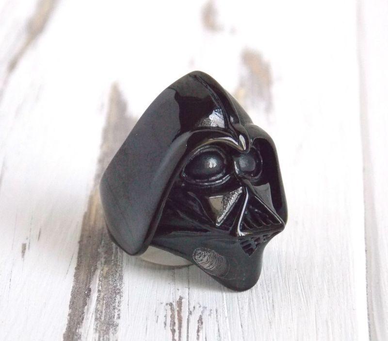 Перстень черный Дарт Вейдер Звездные войны 19 размер