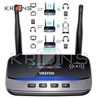 Bluetooth 5.0 аудио приемник передатчик 80м aptX HD SPDIF VIKEFON BT-B21