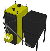 Пеллетный котел 100 кВт с факельной горелкой и бункером под заказ, фото 1