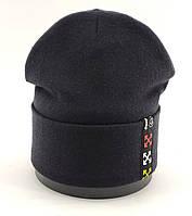 Оптом шапка детская с 52 по 55 размер микро ангора заворотом шапки головные уборы детские опт, фото 1