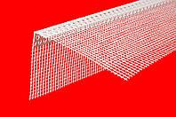 Угловой пластиковый защитный профиль с сеткой 10x15mm  2,5 м.п, Киев