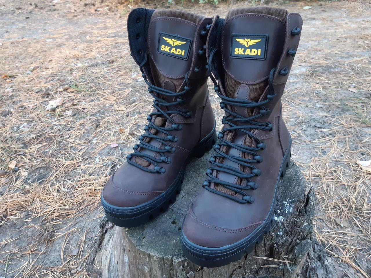 Зимние берцы с усиленным носком коричневые  для любителей  охоты и рыбалки