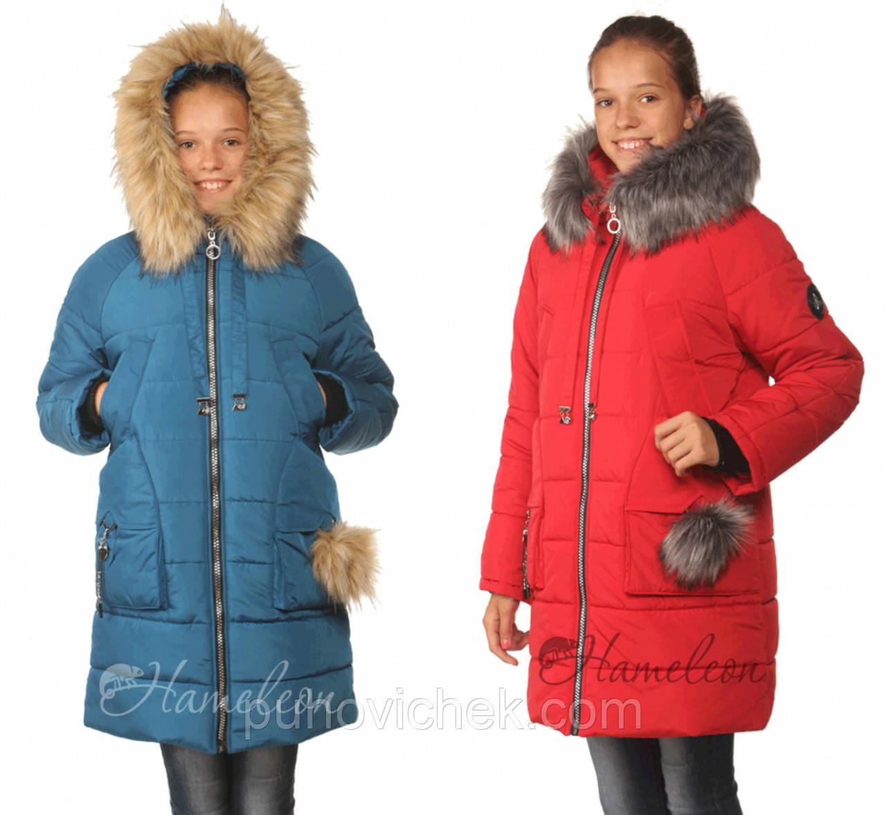 Детские зимние куртки для девочек подростков