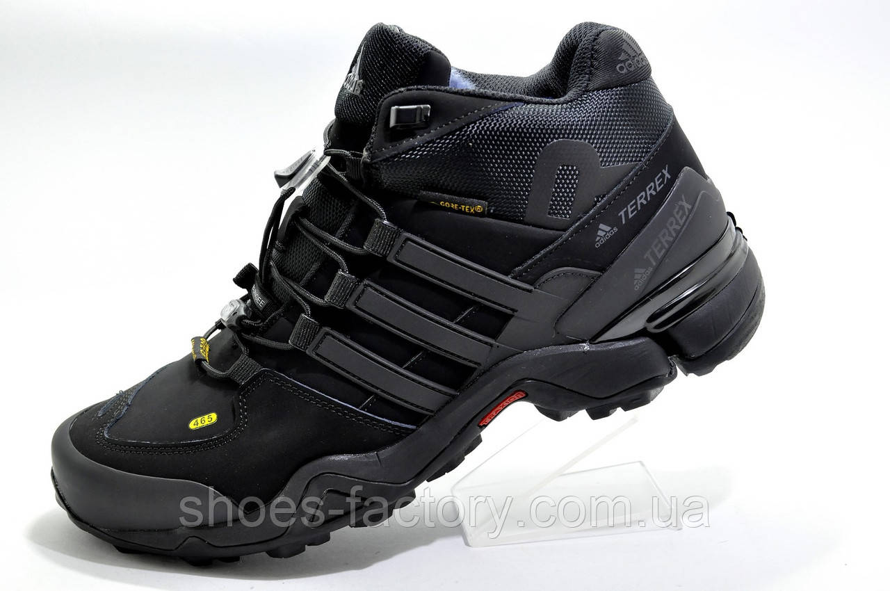 Зимние кроссовки на меху в стиле Adidas Terrex Gore-Tex, Black