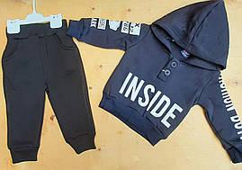 Детский костюм для мальчиков 1-4 года трехнитка Турция оптом