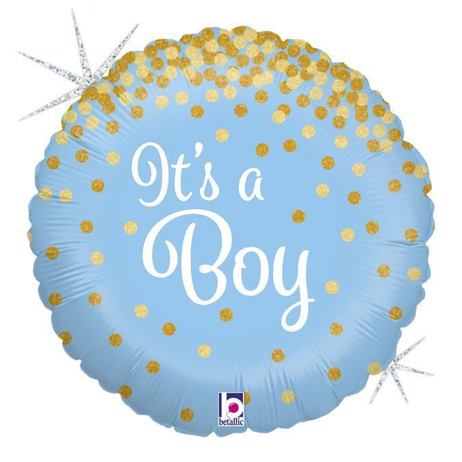 "Фол шар Grabo 18"" Круг It's a boy Голубой (Грабо)"