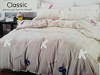 Байковый Комплект постельного белья Байка ( фланель)   Буквы евро